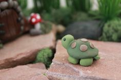 Polymer Clay Turtle Miniature Turtle Mini Clay por GnomeWoods