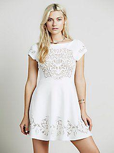 Ornate Fit n Flare Dress