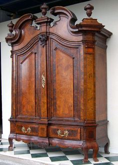 Courtly Baroque Hallway Cabinet from Berlin/Brandenburg, circa 1750   From a unique collection of antique and modern cabinets at https://www.1stdibs.com/furniture/storage-case-pieces/cabinets/
