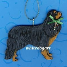 Black And Tan Cavalier King Charles Christmas Ornament