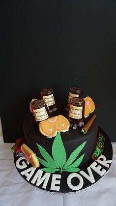 Wonderful Photo of Marijuana Birthday Cake - Birthday Cake Vanilla Ideen Birthday Cakes For Men, Weed Birthday Cake, Birthday Cake For Him, Funny Birthday Cakes, Boyfriend Birthday Cakes, Bachelor Party Kuchen, Bachelor Party Cakes, Hennessy Cake, Boyfriends