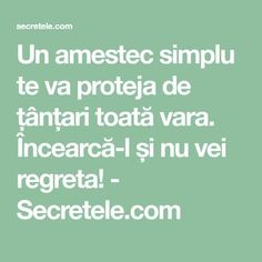 Un amestec simplu te va proteja de țânțari toată vara. Încearcă-l și nu vei regreta! - Secretele.com Alter, Good To Know, Natural Remedies, Health Fitness, Cleaning, Shake, Crafts, Top, Animals