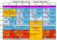 Emploi du temps CP CE1