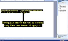 Hướng dẫn cách đổi font từ Vn Time sang Time New Roman và ngược lại