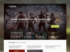 Crytek Homepage Design by Salvatore Mezzatesta