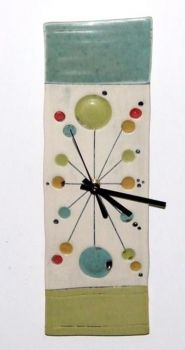 Ceramic Clock. Ed and Kate Coleman $55 ~ Thinking about recreating this on a rectangular canvas, painting the design w/ acrylic paint and adding the clock parts.