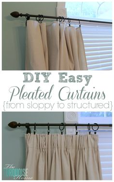 This simple, inexpensive pleat tape will have your DIY curtains whipped into beautiful custom curtains in a jiffy! OK, so I lied … or rather, I just changed my mind. I said I was going to share my handmade wedding gift for my friends today, but no … I did not give them pleated curtains. …