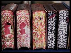 beautiful books, illustrated pages, pattern, decoration, book art