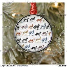 Shop Dogs Of All Kinds Metal Ornament created by LeonOziel. Holiday Cards, Christmas Cards, Holiday Decor, Christmas Holidays, Christmas Bulbs, White Elephant Gifts, Art Pieces, Gift Ideas, Decorating