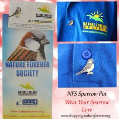 Show your sparrow love by wearing this beautiful sparrow pin 24x7 and let the world see :)