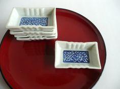 Japanese vintage porcelain sauce dish - set of 5 - 1950s or earlier - WhatsForPudding