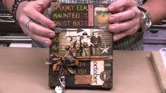 Tim Holtz Exclusive - Mixed Media Texture and Inking Techniques ~ Video Tutorial Mixed Media Techniques, Mixed Media Tutorials, Tim Holtz Distress Ink, Halloween Cards, Halloween 2015, Mixed Media Canvas, Mini Books, Craft Tutorials, Craft Videos