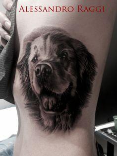 Animal portrait, Dog, realistic by Alessandro Raggi