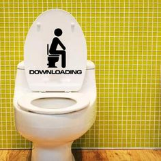 Creative DIY Funny Top Design Toilet Door Sign Sticker 1007