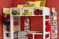 Chambre enfant on pinterest rouge lit mezzanine and decoration - Lit adulte une place ...