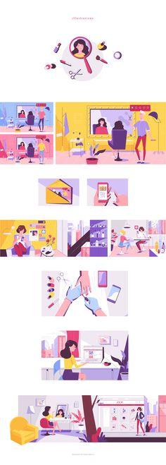 60 Ideas Design Graphique Ideas For 2019 Flat Design Illustration, People Illustration, Illustrations, Digital Illustration, Graphic Illustration, Funny Illustration, Design Ios, Book Design, Site Design