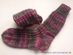 Rosenzöpfchen-Socken
