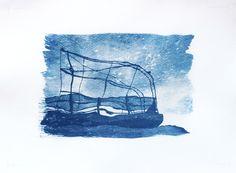 Scheletro di un vascello fantasma. Riflesso sull'acqua di un terrazzo dismesso.