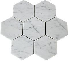 classic hexagon shower floor tiles.