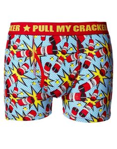Pull my cracker Christmas boxer shorts