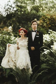 This Vancouver wedding is chock full of high fashion and eclectic details   Image by Shari + Mike
