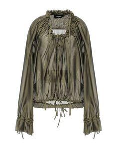 Blouse In Military Green Satin Blouses, Shirt Blouses, Blouse Verte, Maxi Skirt Winter, Military Green, Dsquared2, World Of Fashion, Luxury Branding, Blouses For Women