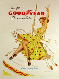 Original advertising poster Goodyear Soles.