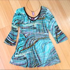 Salaam super soft ¾ sleeve shirt, sz M medium Boutique shirt - I loved this so much but I just cannot pull off any shade of green. Butter soft material, perfect condition. Salaam Tops Blouses