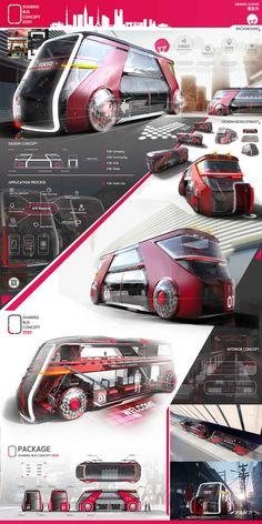Shinto Bus_Sharing Buskonzept 2020 on Behance - Fortbewegung - Transport Futuristic Technology, Futuristic Cars, Futuristic Architecture, Energy Technology, Technology Gadgets, Technology Design, Car Design Sketch, Truck Design, Car Sketch