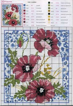 Many bouquets of flowers to be embroidered cross stitch Cross Stitching, Cross Stitch Embroidery, Embroidery Patterns, Cross Stitch Patterns, Diy Embroidery, Stitch Book, Cross Stitch Rose, Cross Stitch Flowers, Blackwork