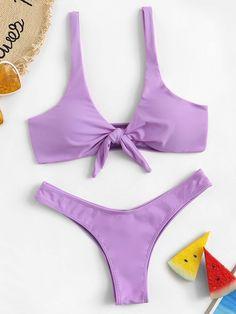 Shop Tie Front Top With Ruched High Leg Bikini online. SHEIN offers Tie Front Top With Ruched High Leg Bikini & more to fit your fashionable needs. Cut Out Bikini, High Leg Bikini, Two Piece Bikini, Underwire Bikini Top, Bikini Tops, Bikini Swimwear, Bikini Dress, Npc Bikini, Bandeau Bikini