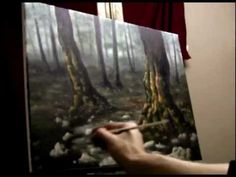 How to Paint a Mystical Forest - Acrylic Painting Lesson - YouTube
