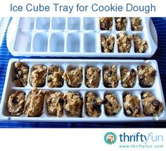 Mix up your favorite cookie dough.  Make extra and freeze in ice cube trays.  When you want to bake several cookies or more pull out you ice cube tray and pop out as many cookies as you want to bake.