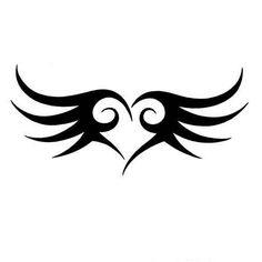 Tribal Heart Art   Star Tribal Lower Back Tattoos For Girls 2011 Tags Body Art Photo