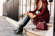 """fashion-boots: """"Lydia Elise Millen in Victoria Beckham boots """" Thigh High Boots Heels, Heeled Boots, High Heels, Fashion Boots, Girl Fashion, Fashion Outfits, Victoria Beckham Bags, Lydia Elise Millen, Sexy Boots"""