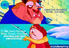 """""""Cogsworth should have his own talk show."""" It's a true story. He's so funny. This line cracks me up every time."""
