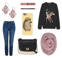 """""""Creature Comforts"""" by tankytank ❤ liked on Polyvore featuring LA77, Markus Lupfer, Topshop, Dorothy Perkins, NAKAMOL, Chantecaille, NYX and Casetify"""