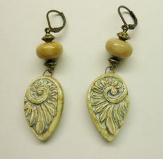 Handmade porcelain earrings   by Sheri Mallery of SlinginMud