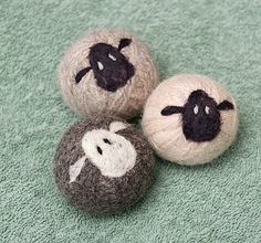 Lamb faces on wool dryer balls!!!!