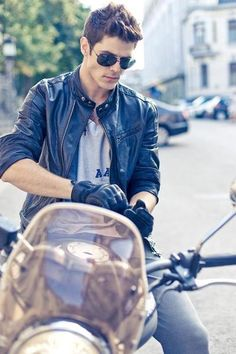 Motorcycle, Hair, Glasses, Jacket