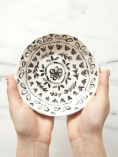 Small painted plate