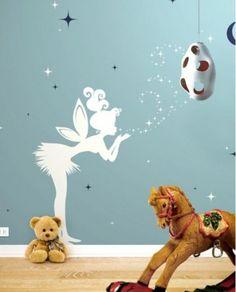 Elfje/Tinkerbell voor op de muur