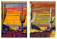 Ranger Doug's restored poster and Hannah Rothstein's interpretation. WPA-Style Posters Imagine a Bleak Future for US National Parks
