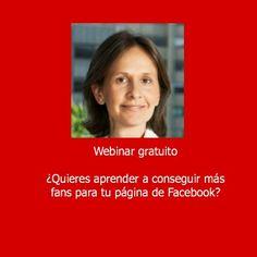 http://belenruizbeato.com/contacto/ Si quieres aprender como conseguir más fans para tu negocio, REGISTRATE al webinar que tedrá lugar el próximo 17 de Octubre a las 11.00 (Europa, Madrid)