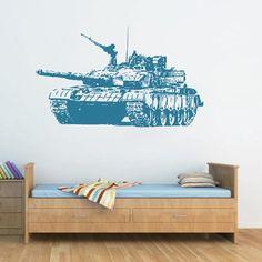 kik1606 Wall Decal Sticker Tank military equipment US Army living room children's bedroom