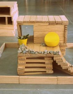 Kapla house by Savannah     Kickcan & Conkers, via Flickr