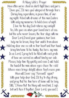 """""""A Navy Wife Prayer""""   I really like this one!"""