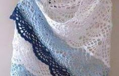 See that lovely Shawl yarn made in crochet pattern with graphs for step by step.