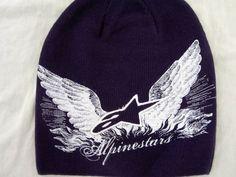 NWT Alpinestars Moto-X FMX racing snowboard beanie Eagles Soar purple cap  #Alpinestars #Beanie