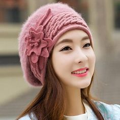 0f6d0f0adc7 Beanies Women s Winter Hats For Women Knitted Girls Bonnet Caps Winter Lady  Hats Brand Wool Fur